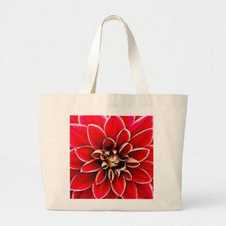 赤いダリア、デジタル芸術 ラージトートバッグ