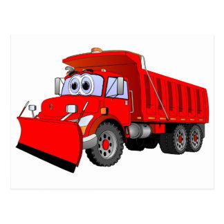 赤いダンプトラックの漫画 ポストカード