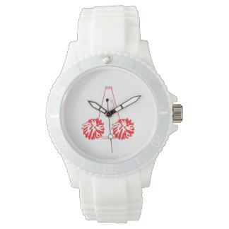 赤いチアリーダーの腕時計 腕時計