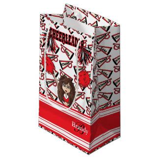 赤いチアリーダーを個人化して下さい スモールペーパーバッグ