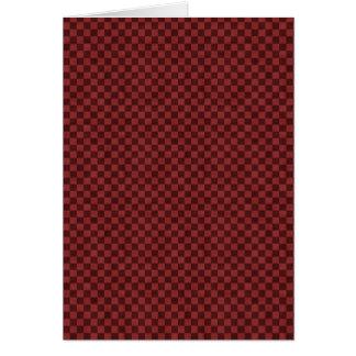 赤いチェッカーボード カード