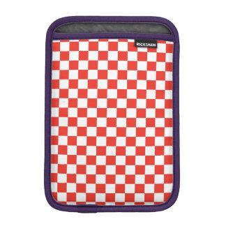 赤いチェッカーボード iPad MINIスリーブ