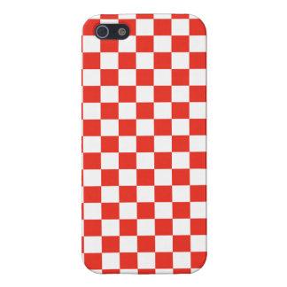 赤いチェッカーボード iPhone 5 CASE
