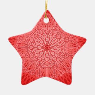 赤いチャクラの曼荼羅の神聖な幾何学 セラミックオーナメント