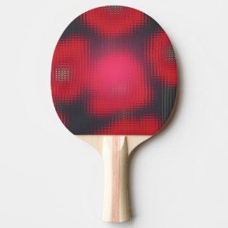 赤いチューリップのガラスモザイク一見の卓球ラケット 卓球ラケット