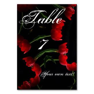 赤いチューリップのテーブルカード カード