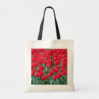 赤いチューリップ、オタワの花 トートバッグ