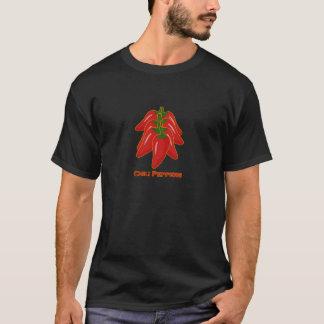 赤いチリペッパーのロゴ Tシャツ