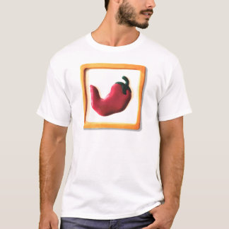 赤いチリペッパー Tシャツ