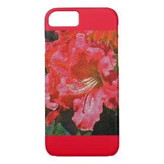 赤いツツジのiPhone 7の箱 iPhone 8/7ケース