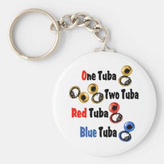 赤いテューバの青のテューバ キーホルダー