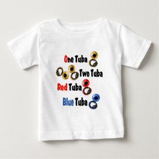 赤いテューバの青のテューバ ベビーTシャツ