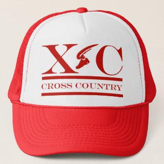 赤いデザインの帽子を走るクロス・カントリー キャップ