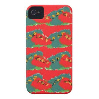 赤いデザイン Case-Mate iPhone 4 ケース