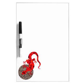 赤いトカゲのコラージュ ホワイトボード