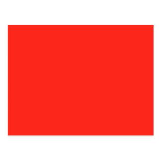 赤いトマトのモダンな無地だけOSCB35 ポストカード