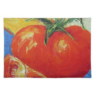 赤いトマトのランチョンマット ランチョンマット