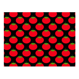 赤いトマトパターン ポストカード
