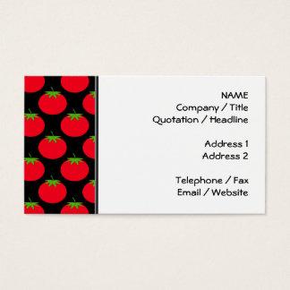 赤いトマトパターン 名刺