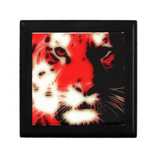 赤いトラの顔 ギフトボックス