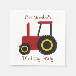 赤いトラクターの誕生日 スタンダードカクテルナプキン