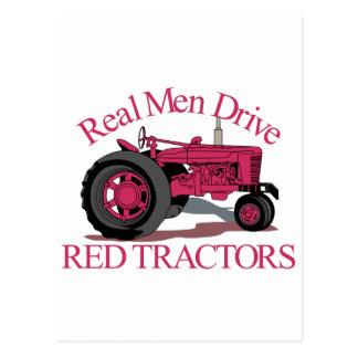赤いトラクターを運転して下さい ポストカード