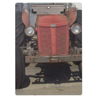 赤いトラクター クリップボード