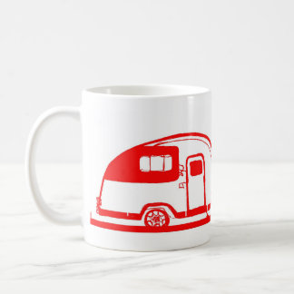 赤いトレーラーおよび木のマグ11oz コーヒーマグカップ