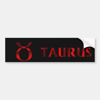 赤いトーラスの占星術の記号 バンパーステッカー