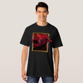 赤いドラゴンのティー Tシャツ