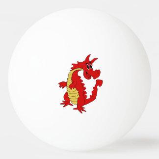 赤いドラゴンのデザイン 卓球 ボール
