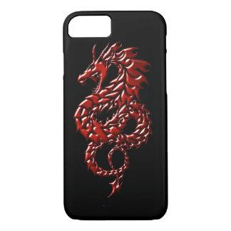 赤いドラゴンの上昇の黒いiPhone 7の携帯電話の箱 iPhone 8/7ケース