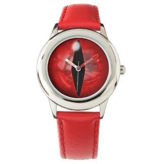赤いドラゴンの目 腕時計