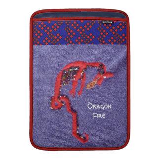 赤いドラゴンの神話のファンタジー MacBook スリーブ