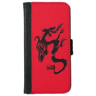 赤いドラゴンの記号 iPhone 6/6S ウォレットケース