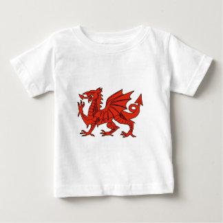 赤いドラゴン ベビーTシャツ