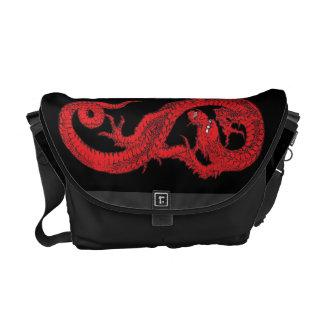赤いドラゴン メッセンジャーバッグ