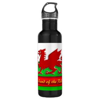 赤いドラゴン、金属効果の家ウェールズ- ウォーターボトル
