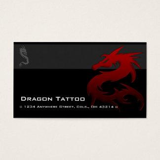 赤いドラゴンD1のアジア入れ墨のユニークな名刺 名刺