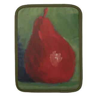 赤いナシ及び緑の人力車の袖 iPadスリーブ