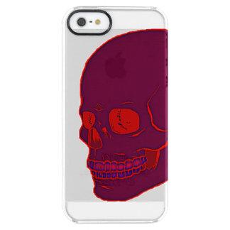 赤いネオンスカルのゆとり! クリア iPhone SE/5/5sケース