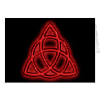 赤いネオンTriquetra カード