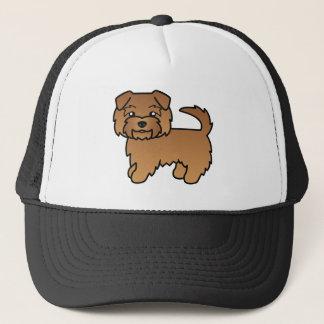 赤いノーフォークテリアの漫画犬 キャップ