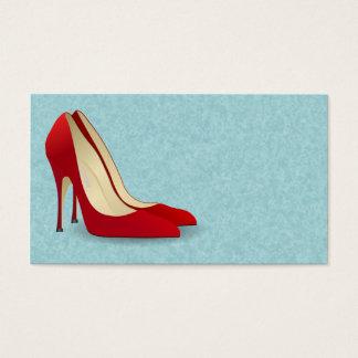 赤いハイヒールの靴の名刺 名刺