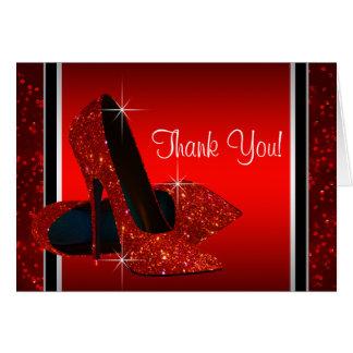 赤いハイヒールの靴は感謝していしています ノートカード