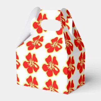 赤いハイビスカスによっては熱帯ハワイのルアウ(ハワイ式宴会)が開花します フェイバーボックス