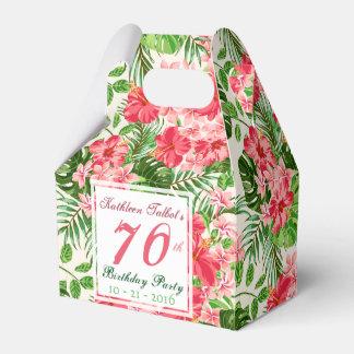 赤いハイビスカスの第70誕生会の好意箱 フェイバーボックス