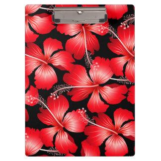 赤いハイビスカスの花 クリップボード