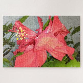 赤いハイビスカスの花 ジグソーパズル