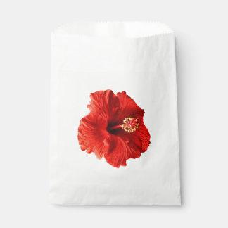 赤いハイビスカス フェイバーバッグ